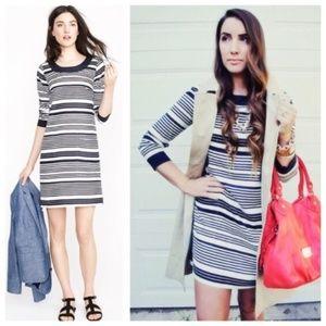 J. CREW Striped Silk Navy Jules Tunic Mini Dress 2
